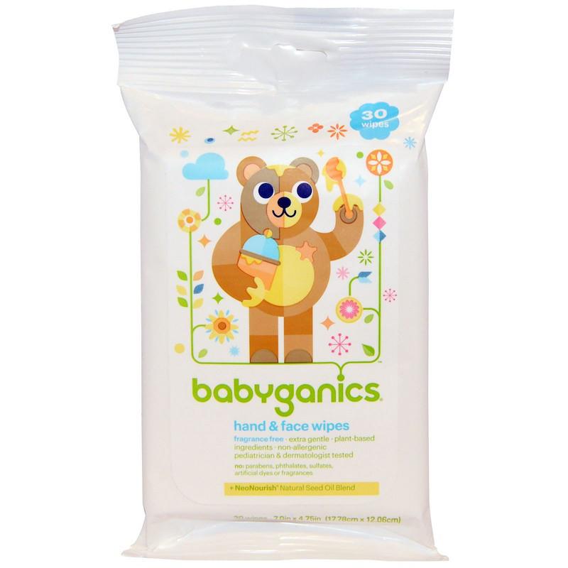 Очищающие салфетки для рук  , BabyGanics, 30 шт