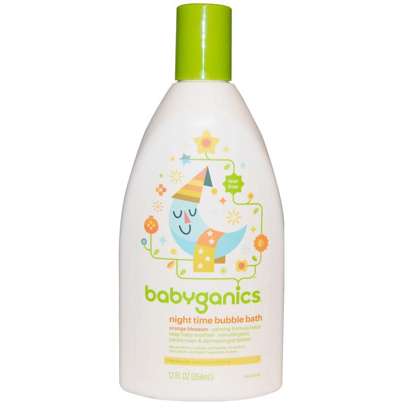 Детская пена для ванн, BabyGanics, цветы апельсина, 354 мл.