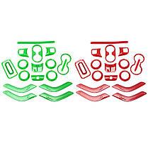 18штАвтоКрасныйЗеленыйABSВнутренняя декоративная отделка Набор Для Wrangler 2011-2017 1TopShop, фото 2
