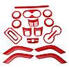 18штАвтоКрасныйЗеленыйABSВнутренняя декоративная отделка Набор Для Wrangler 2011-2017 1TopShop, фото 3