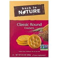 Классические круглые крекеры, Classic Round Crackers, Back to Nature, 240 г.