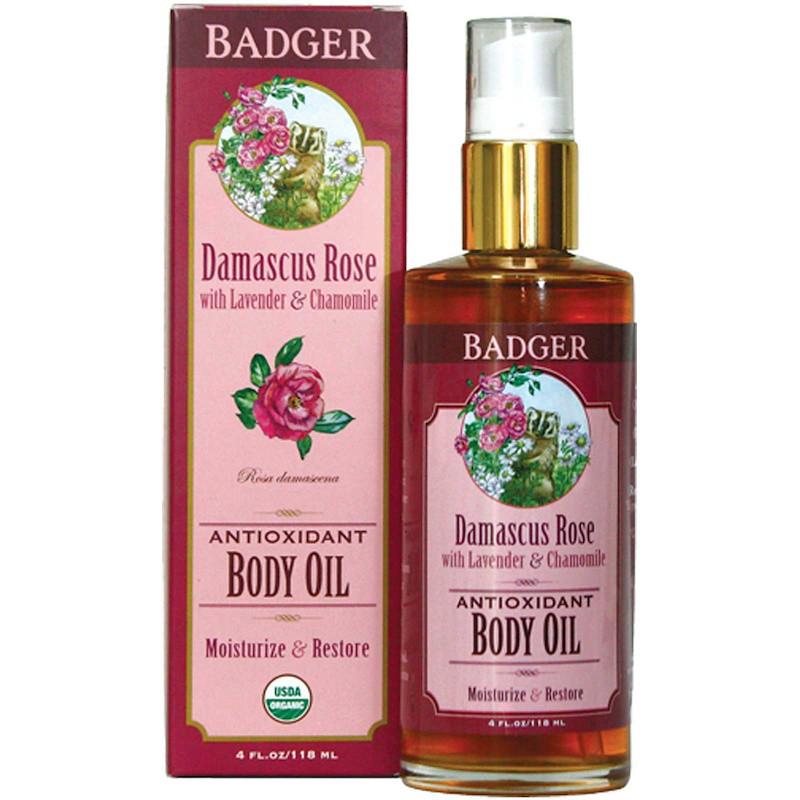 Масло для тела, дамасская роза, Badger Company, 118 мл