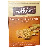 Back to Nature, Печенье с кремовой прослойкой из арахисового масла, 9,6 унций (272 г)