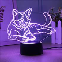 3D USB/Батарея Powered Cute Кот 7 цветов Изменение LED Настольные лампы Touch Switch Night Light 1TopShop, фото 3
