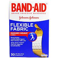Band Aid, Brand Adhesive Bandages, Flexible Fabric, 30 Bandages