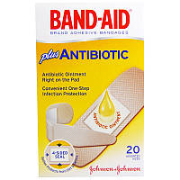 Band Aid, Brand Adhesive Bandages, Plus Antibiotic, 20 Assorted Sizes