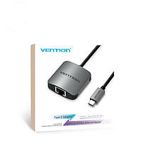 Vention Сетевой адаптер USB C от Type-C до RJ45 Сетевой адаптер сетевой карты LAN Lan 100Mbps для Mac - 1TopShop, фото 3