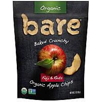 Яблочные чипсы, Organic Apple Chips, Bare Fruit, 48 г.