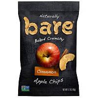 Яблочные чипсы с корицей, Crunchy Cinnamon Apple Chips, Bare Fruit, 48 г.