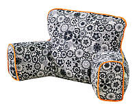 Кресло-подушка Ergo Lounge bq-style Doodle с оранжевым кантом (2-100124)