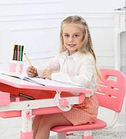 Детская парта розового цвета трансформер девочке от 3 лет столешница 70 х 38 см
