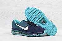Кроссовки женские темно синие с мятой  Nike Air Max 2017 5465