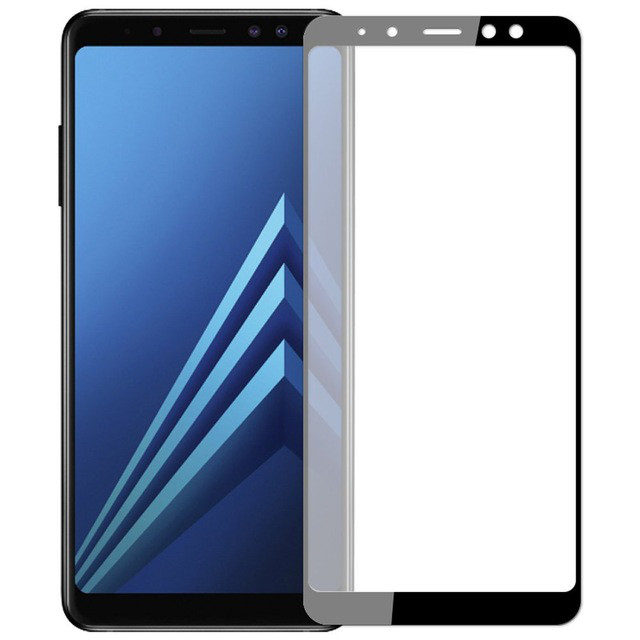 SoftCurvedEdgeтемныйстеклянныйэкранный экран для Samsung GalaxyA82018 1TopShop