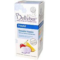Bellybar, Пренатальные витамины с фруктовым вкусом, 60 жевательных таблеток