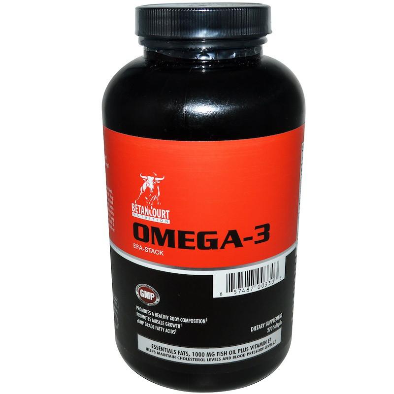 Betancourt, Омега-3 EFA-Stack, 270 мягких капсул