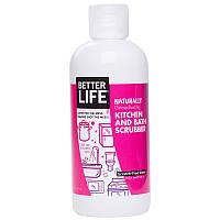 Чистящее средство для кухни и ванной, Kitchen and Bath Scrubber, Better Life, 473 мл