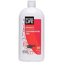 Better Life, Натуральный гель для посудомоечных машин, удаляющий остатки пищи, без отдушек, 60 загрузок, 30 унций (887 мл)