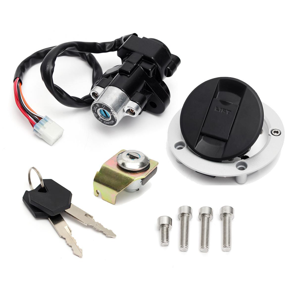 Переключатель зажигания Замок и крышка топливного газа Ключ для Suzuki GSXR600 750 1000 03-15 1TopShop