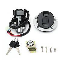 Переключатель зажигания Замок и крышка топливного газа Ключ для Suzuki GSXR600 750 1000 03-15 1TopShop, фото 2