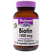 Биотин, Bluebonnet Nutrition, 1000 мкг, 90 кап.
