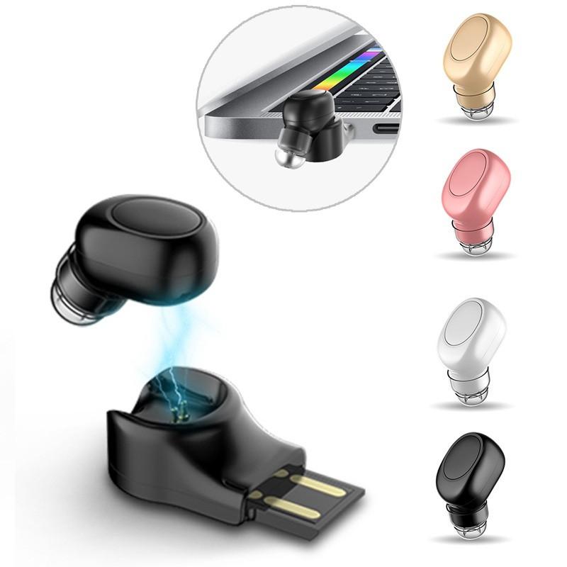 X11МинибеспроводныеBluetoothнаушникиПортативный без рук невидимый наушник с магнитным USB-зарядным устройством-1TopShop