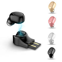 X11МинибеспроводныеBluetoothнаушникиПортативный без рук невидимый наушник с магнитным USB-зарядным устройством-1TopShop, фото 2
