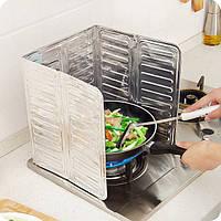 АлюминиеваяфольгаМаслоБлокМаслоБарьерная плита Кулинария Теплоизоляция Анти-брызг Масло Дефлектор 3 Размеры