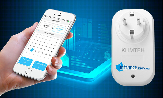 WiFi розетка Klimteh Smart U-02