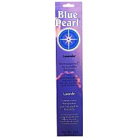 Благовоние с ароматом лаванды, (Lavender Incense), Blue Pearl, 10 г