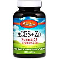 Витамины А, С, Е плюс цинк, Carlson Labs, 120 капсул