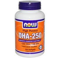 DHA-250, 120 капс  восстановление зрения, памяти, IQ  Now Foods USA