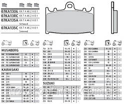 Тормозные колодки BREMBO 07KA13SA синтетика для Kawasaki ZZR/GPZ,Suzuki GSF/GSX-R/GSX, фото 2