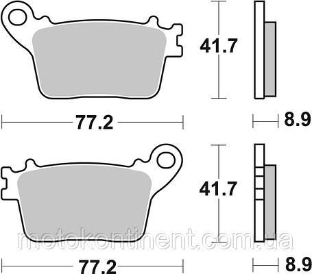 Тормозные колодки SBS 834HF синтетика для HONDA CBR 1000 RR,KAWASAKI ZX-10R,SUZUKI GSX-R, фото 2