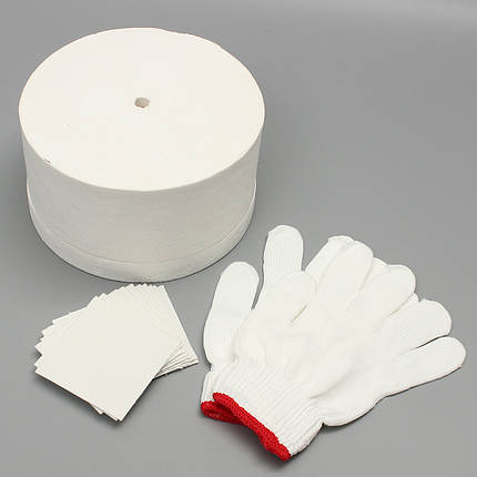 Набор для микроволновой печи 1 Большая микроволновая печь 1 пара Белый хлопок Перчатки 10шт Базовая бумага 1TopShop, фото 2