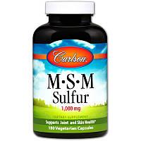 Carlson Labs, Msm Sulfur, 1 000 мг, 180 вегетарианских капсул, фото 1