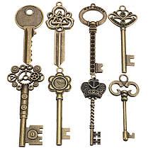 90pcs Antique Винтаж Old Ornate Skeleton Keys Lot Кулон Необычные Сердце Украшения Подарки 1TopShop, фото 2