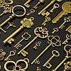 90pcs Antique Винтаж Old Ornate Skeleton Keys Lot Кулон Необычные Сердце Украшения Подарки 1TopShop, фото 4