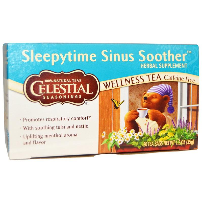 Celestial Seasonings, Sleepytime Sinus Soother, Wellness Tea, 20 Bags (8 fl oz) Each
