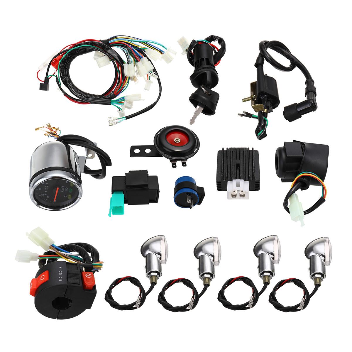 Полный электрический старт Двигатель Жгут проводов для CDI 110cc / 125cc Quad Велосипед ATV - 1TopShop
