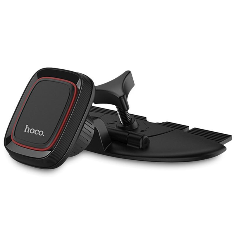 HOCO CA25 Магнитное вращение на 360 градусов Кожа PU Авто Подставка для держателя CD-слота для iPhone X 1TopShop