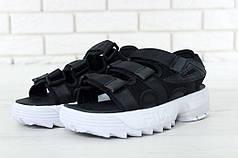 FILA Disruptor Sandals black\white, Сандали Фила. ТОП Реплика ААА класса.