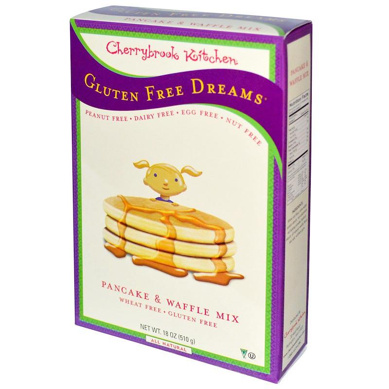 Cherrybrook Kitchen, Gluten Free Dreams, оладьи и вафли без глютена, 18 унций (510 г)