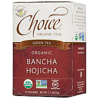 Японский зеленый чай Бантя, Choice Organic Teas, 16 шт.