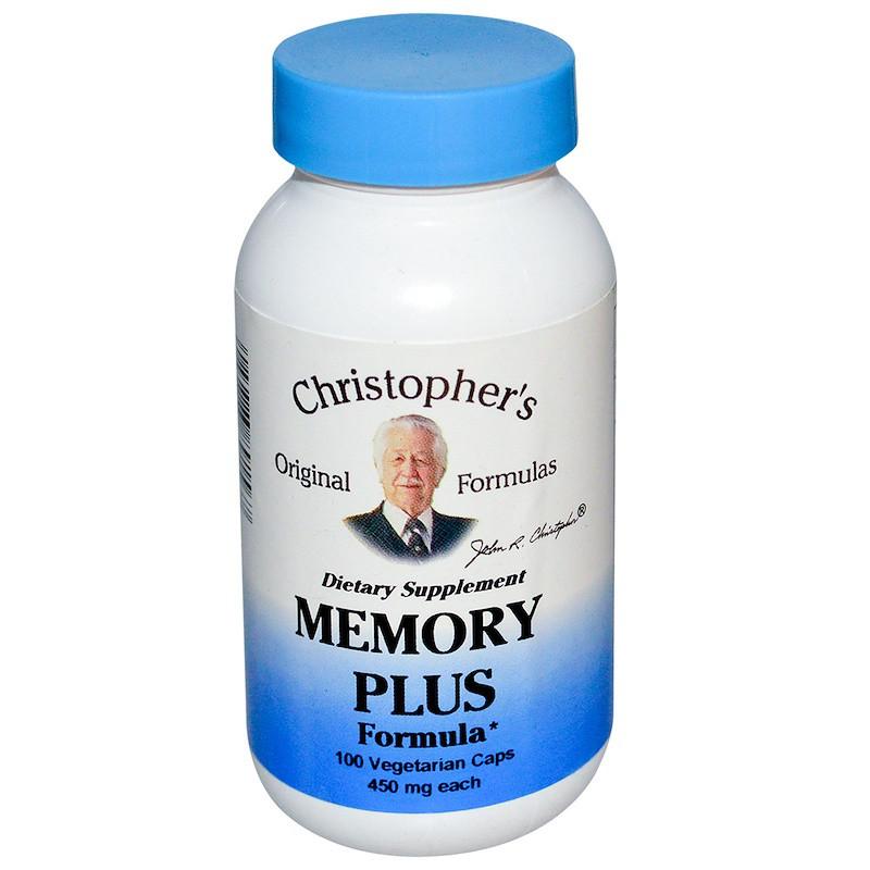 Формула для мозга и памяти, Christopher's Original Formulas, 450 мг, 100 кап.