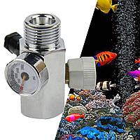 Адаптер для заправки баллонов CO2 для домашних животных Коннектор Газовый регулятор G5/8 / W21.8 / M22