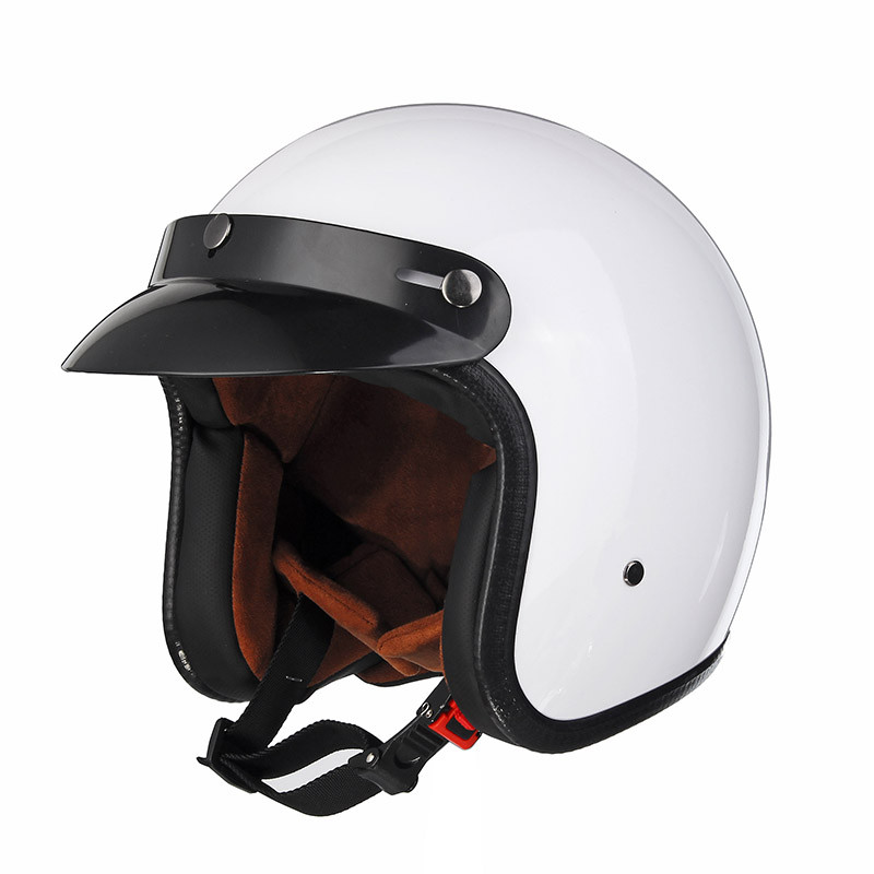 Черный/Белый ABS мотоцикл Винтаж Открытое лицо шлема для Harley 1TopShop