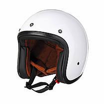 Черный/Белый ABS мотоцикл Винтаж Открытое лицо шлема для Harley 1TopShop, фото 2