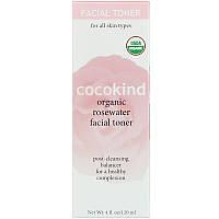 Cocokind, Органический тоник для лица с розовой водой, 4 унции (120 мл), фото 1