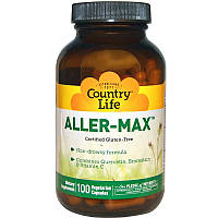 Комплекс от аллергии, без глютена, Aller-Max, Country Life, 100 кап