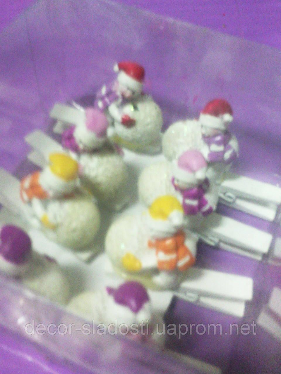 Прищепка снеговик